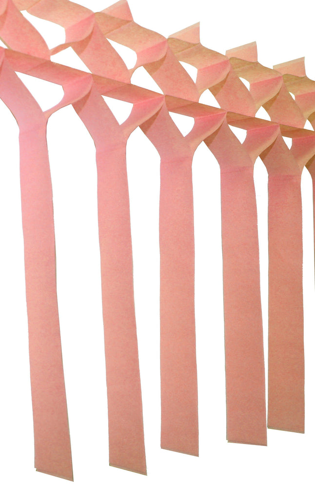 Peach Fringe Streamer Garland