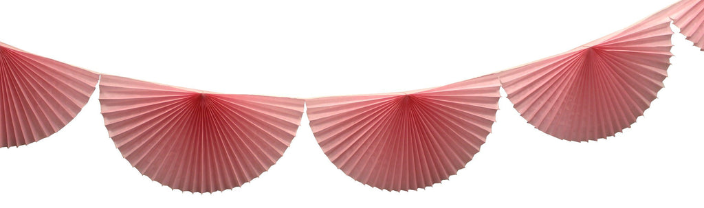 Pink Bunting Fan Garland - Revelry Goods