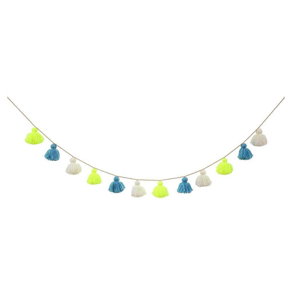 Load image into Gallery viewer, Wool Tassel Garland - Revelry Goods