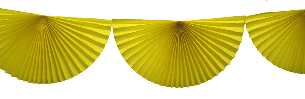 Devra party yellow tissue fan bunting garland - Revelry Goods modern party decor