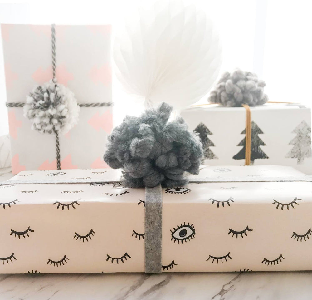 Load image into Gallery viewer, Gray Wooly Gift Topper - Revelry Goods
