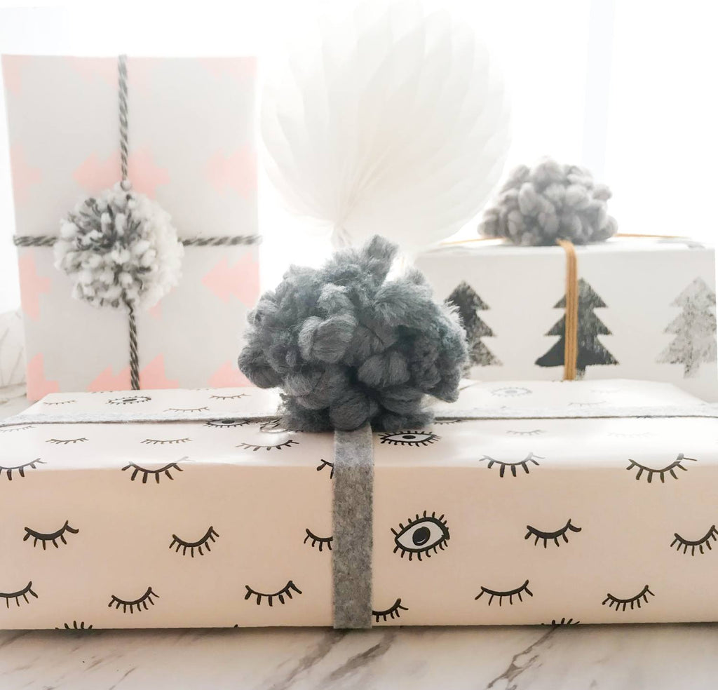 Gray Wooly Gift Topper - Revelry Goods