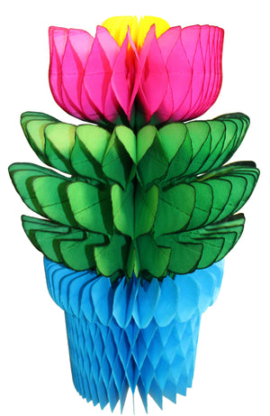 Load image into Gallery viewer, Turquoise Honeycomb Flowerpot - Revelry Goods