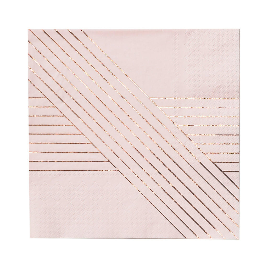 Amethyst Pale Pink Striped Large Napkins - Revelry Goods