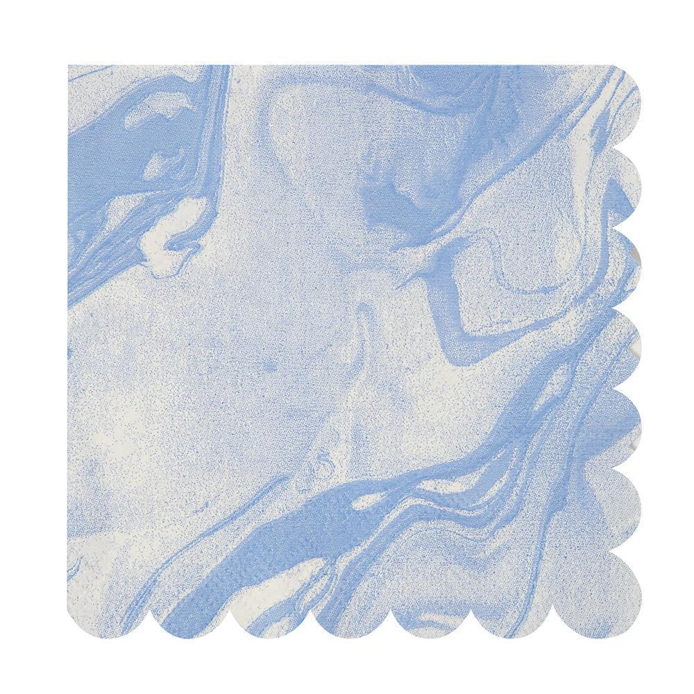 Blue Marble Large Napkins - Revelry Goods