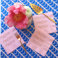 Cake Foil Napkins - Cotton Candy Pink - Revelry Goods