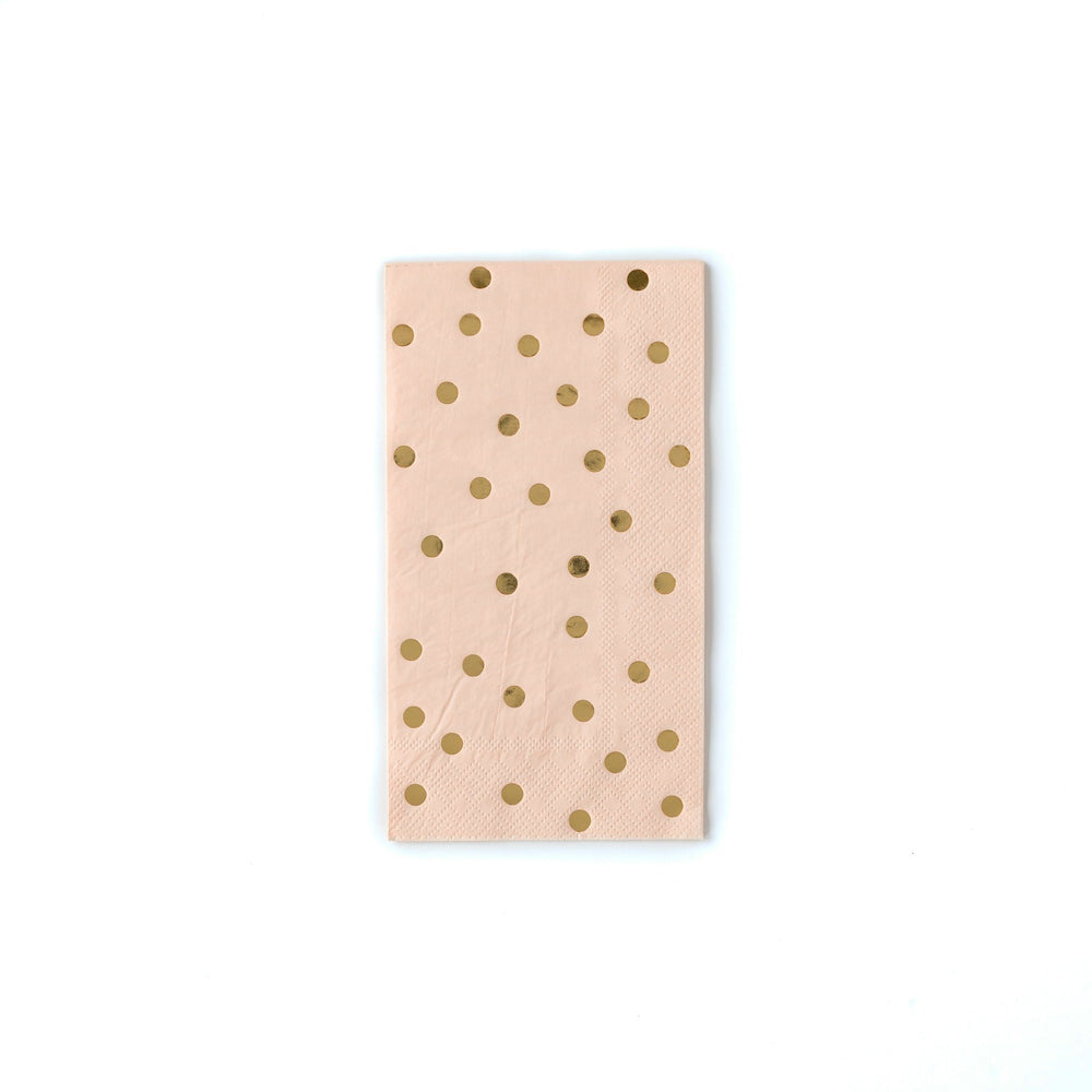 Gold Spotted Blush Napkins