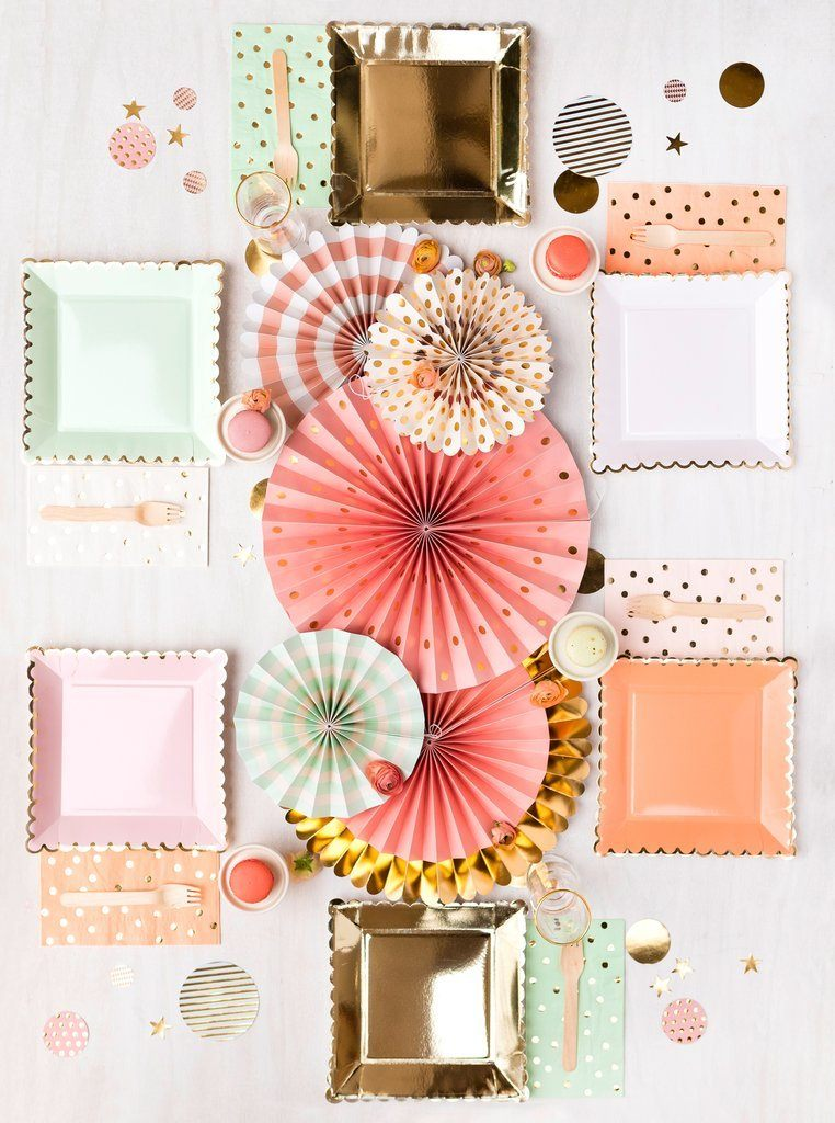 Gold Spotted Mint Napkins - Revelry Goods