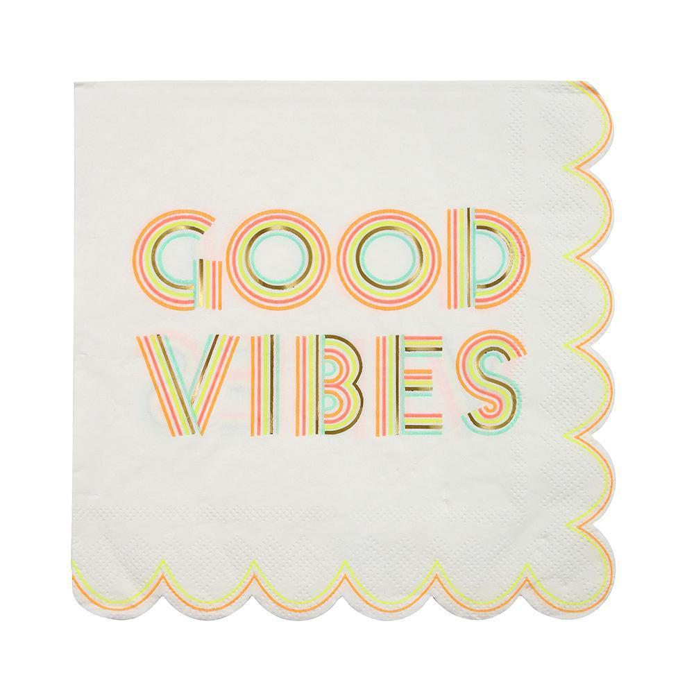 Good Vibes Large Napkins - Revelry Goods