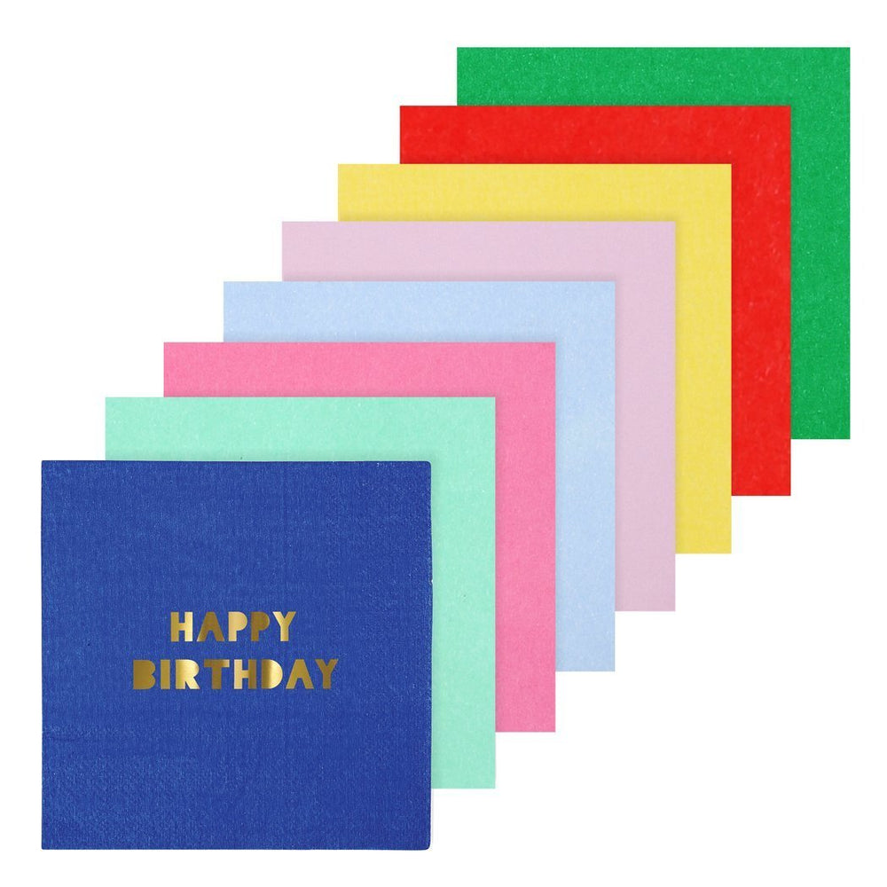 Happy Birthday Large Napkins - Revelry Goods