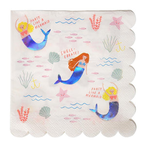 Load image into Gallery viewer, Mermaid Large Napkins - Revelry Goods