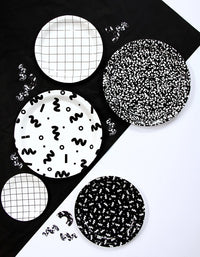 Art School Squiggle Large Plates - Revelry Goods