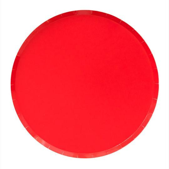 Cherry Red Large Plates - Revelry Goods
