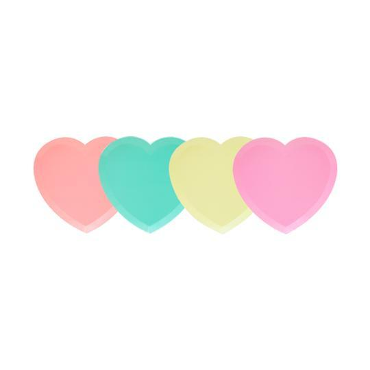Load image into Gallery viewer, I Heart Neon Plate Set - Revelry Goods