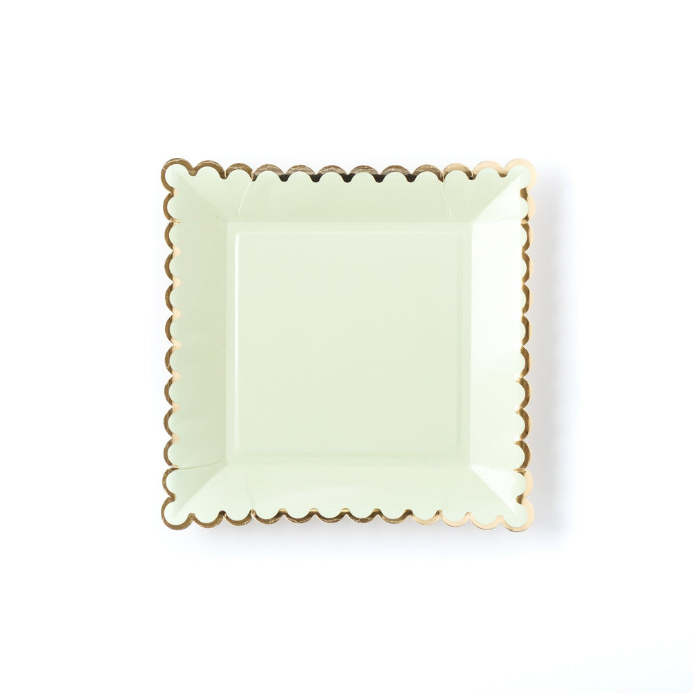 Mint Square Plates - Revelry Goods