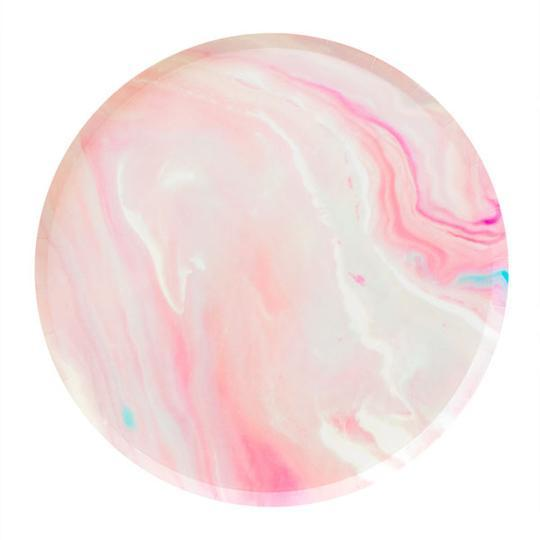 Load image into Gallery viewer, Pink Marble Large Plates - Revelry Goods