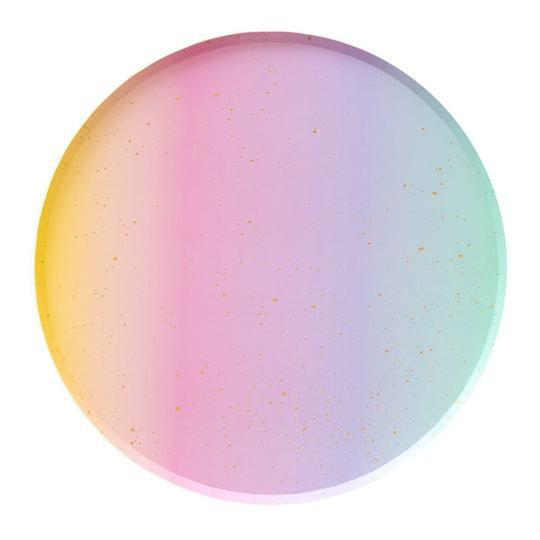 Rainbow Ombre Large Plate