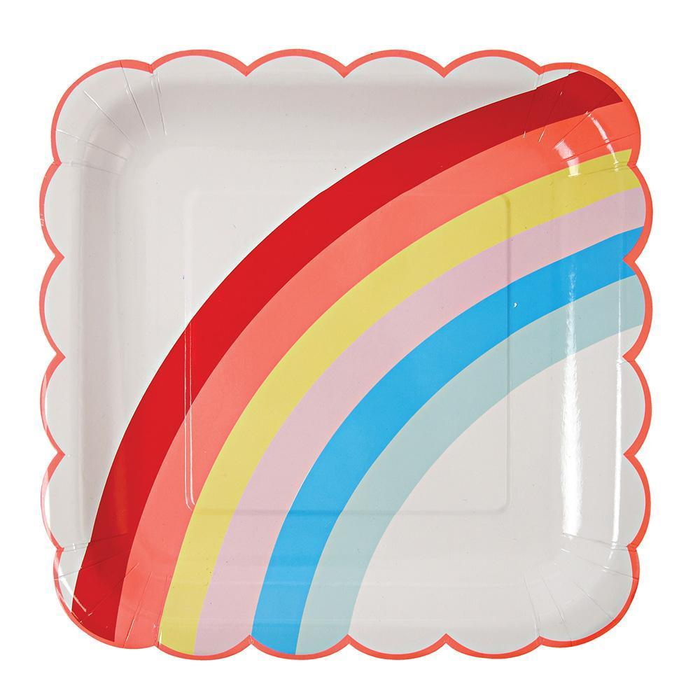 Rainbow Square Large Plates - Revelry Goods