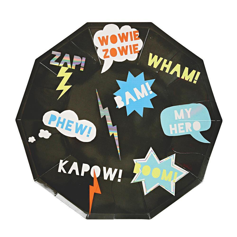Zap! Superhero Large Plates