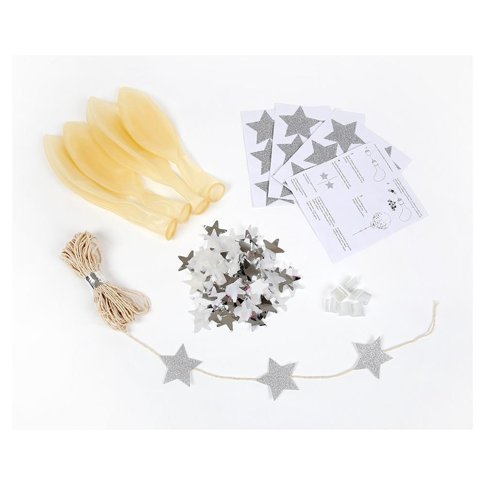 Confetti Silver Balloons Kit - Revelry Goods