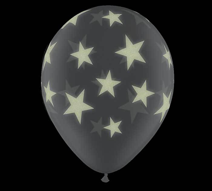 Glowing Stars Latex Balloons- Pack of 25 - Revelry Goods