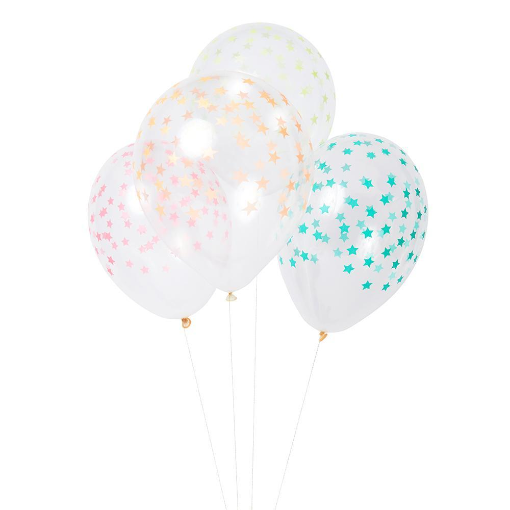 Mixed Color Star Balloons - Revelry Goods