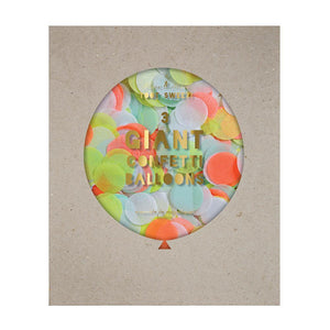 Load image into Gallery viewer, Neon Giant Confetti Balloon Kit - Revelry Goods