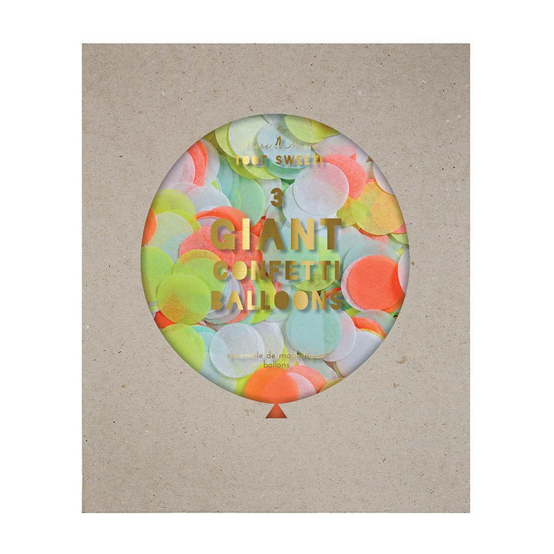 Neon Giant Confetti Balloon Kit - Revelry Goods