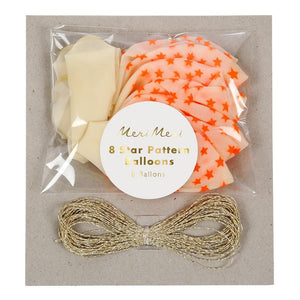 Neon Orange Star Balloons - Revelry Goods