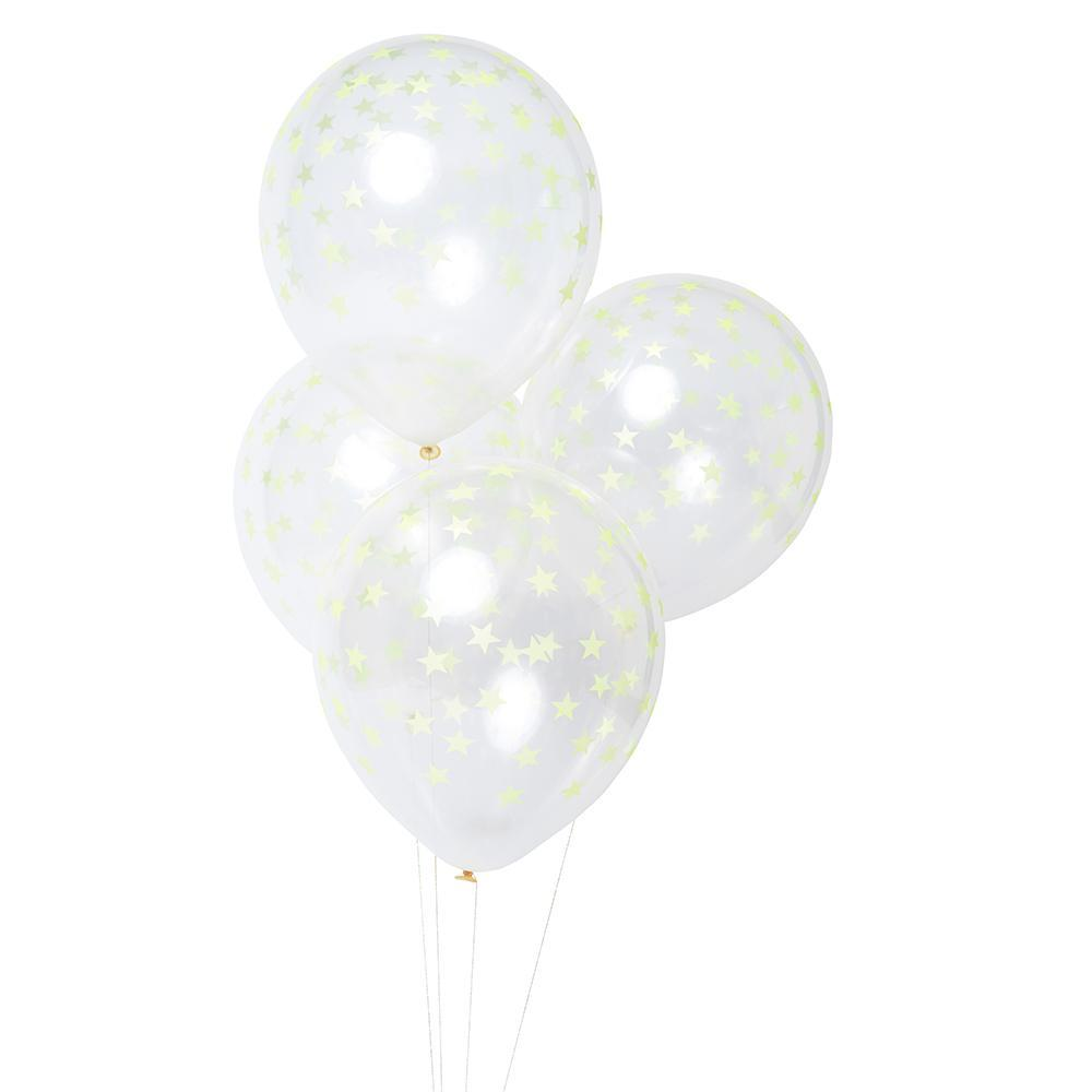 Load image into Gallery viewer, Neon Yellow Star Balloons - Revelry Goods