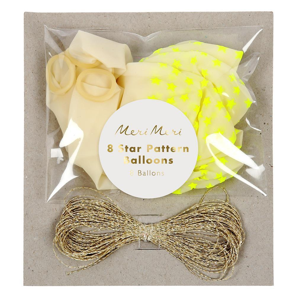Neon Yellow Star Balloons - Revelry Goods
