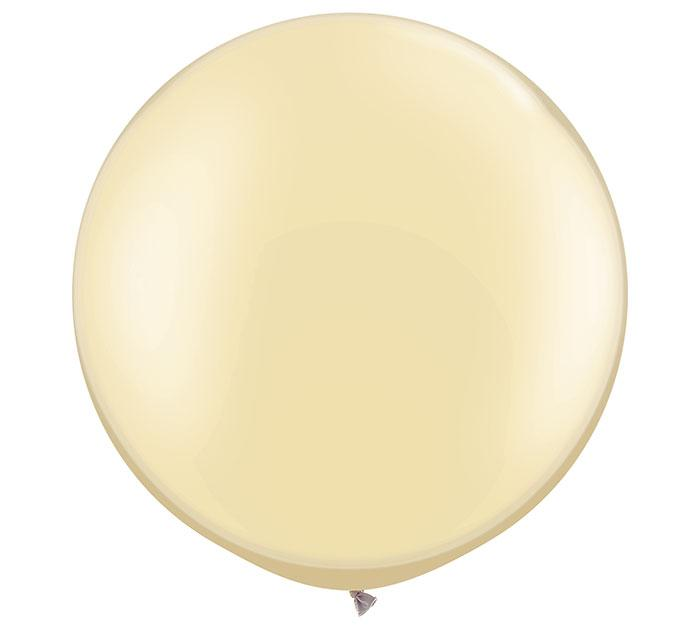 Pearl Ivory Giant Round Latex Balloons- Set of 2 - Revelry Goods