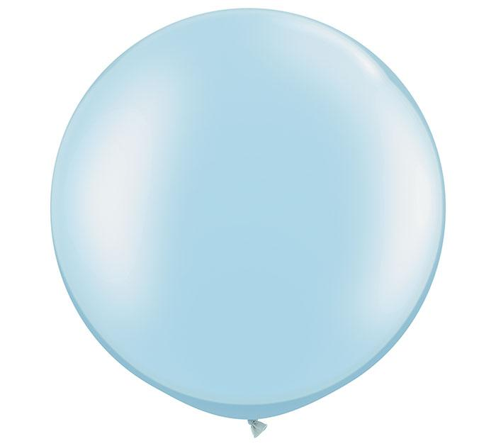 Pearl Light Blue Giant Round Latex Balloons- Set of 2 - Revelry Goods