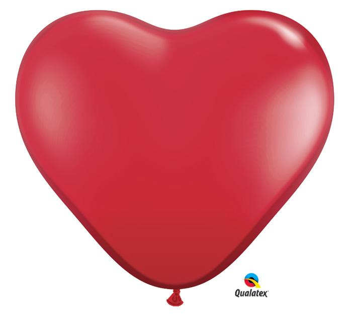 Ruby Red Hearts Giant Latex Balloon- Set of 2