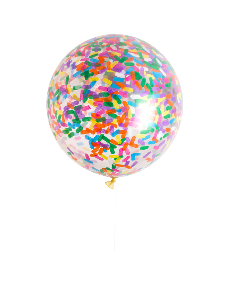 Load image into Gallery viewer, Sprinkles Confetti Giant Round Latex Balloon - Revelry Goods