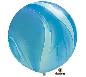 Load image into Gallery viewer, Superagate Blue Jumbo Round Latex Balloon- Set of 2 - Revelry Goods