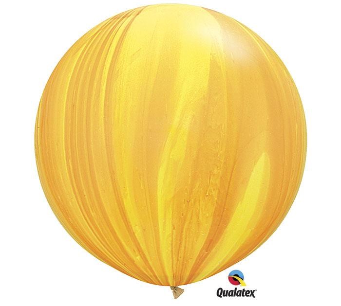 Superagate Yellow Orange Jumbo Round Latex Balloons- Set of 2
