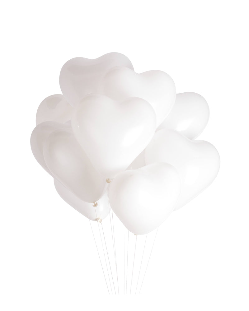 White Heart Balloon Bundle