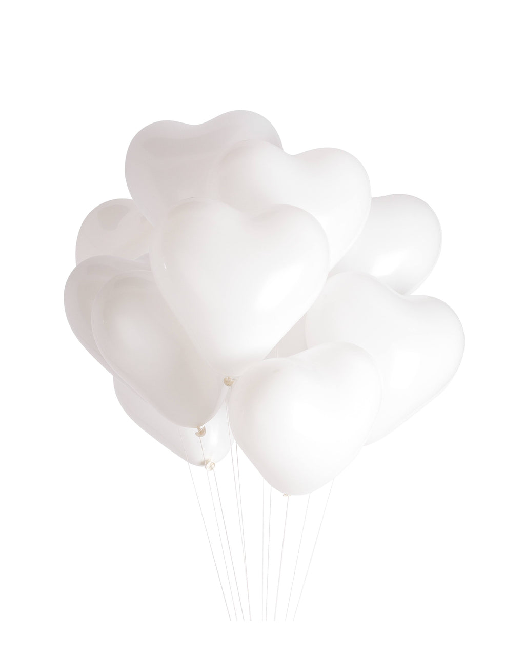 White Heart Balloon Bundle - Revelry Goods