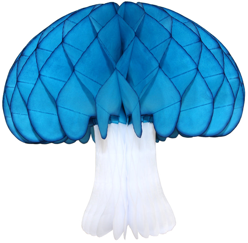 "Devra Party 16"" Turquoise Honeycomb Mushroom 