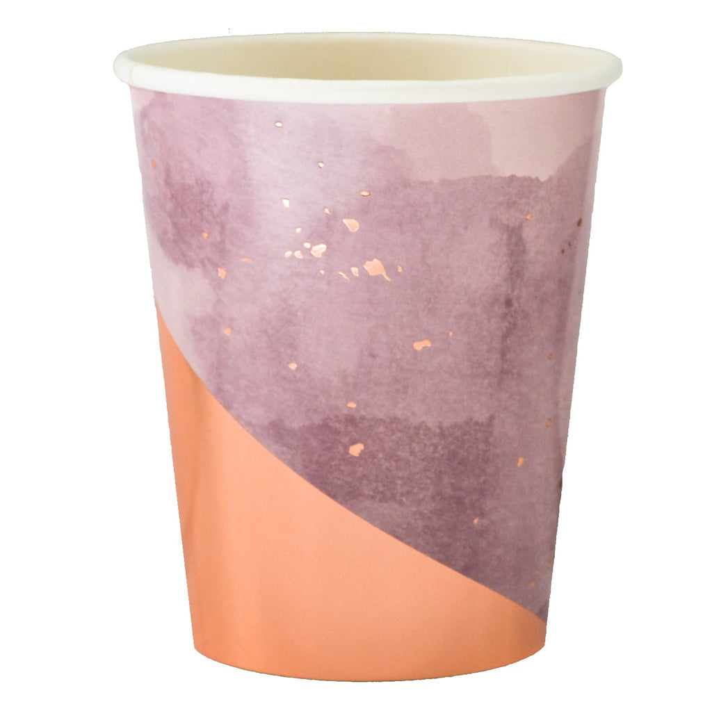 Amethyst Light Purple Watercolor Paper Cups - Revelry Goods
