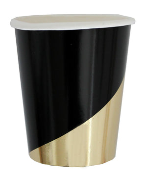 Load image into Gallery viewer, Noir Black Colorblock Paper Cups - Revelry Goods