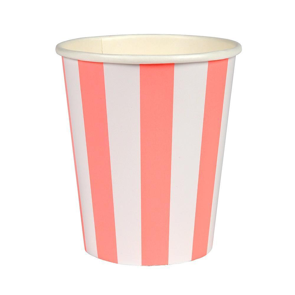 Striped Coral Cups - Revelry Goods
