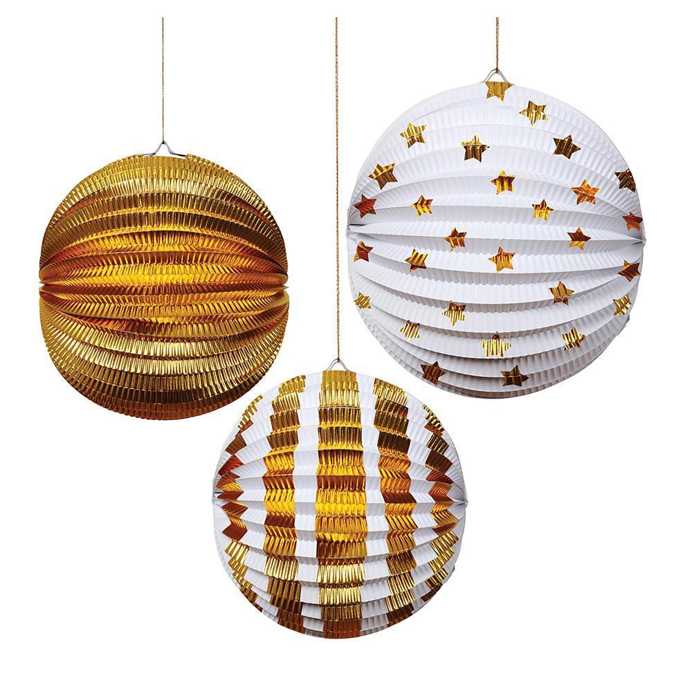 Gold Foil Paper Globes - Revelry Goods