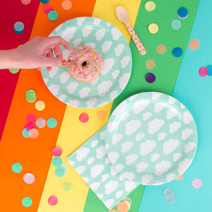 Cloud Paper Plates - Revelry Goods