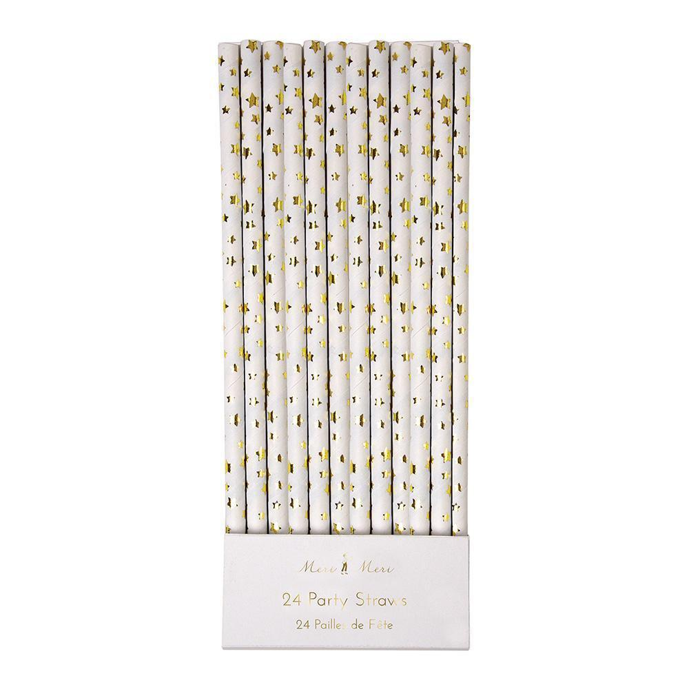 Gold Foil Star Straws - Revelry Goods