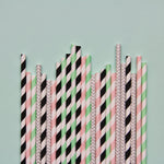 Memphis Pastels Paper Straws- Mixed Pack