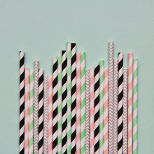 Load image into Gallery viewer, Memphis Pastels Paper Straws- Mixed Pack - Revelry Goods