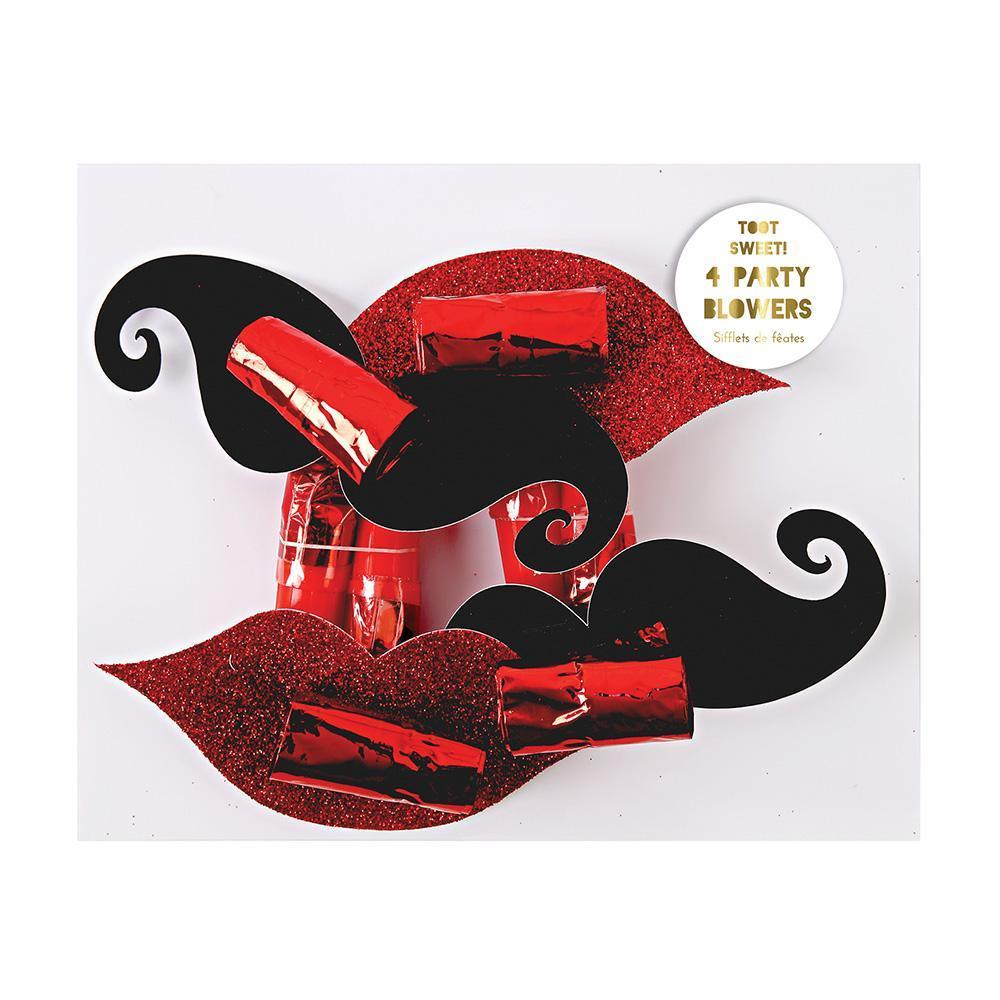 Mustache & Lips Party Blowers - Revelry Goods