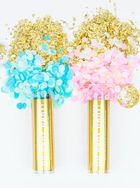 Gender Reveal Confetti Tube- Boy - Revelry Goods